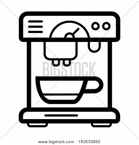 coffee machine appliance. isolated icon vector illustration. outline design cofee machine for office. Eps 10