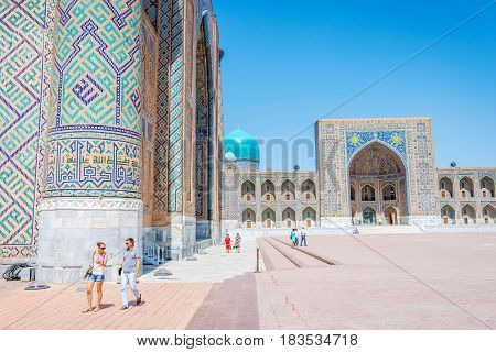 Famous Registan, Samarkand, Uzbekistan