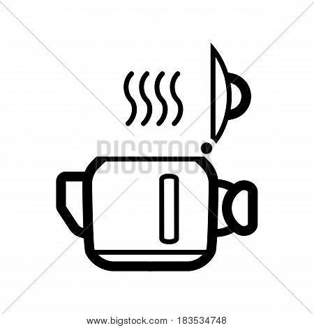 Open Kettle for tea or coffee icon. Vector illustration. eps 10