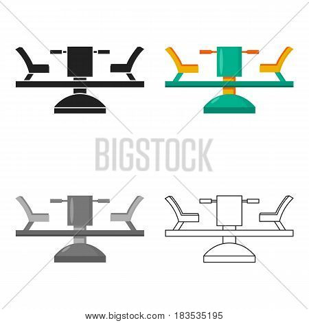 Carousel icon in cartoon style isolated on white background. Play garden symbol vector illustration.