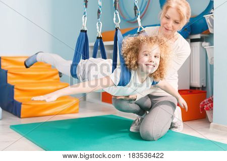 Boy On Dual Swing