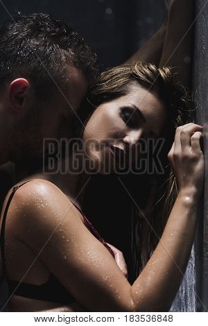 Man Kissing His Lover's Neck