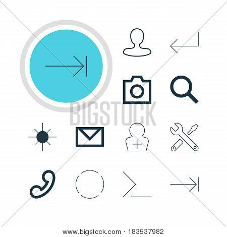 Vector Illustration Of 12 Member Icons. Editable Pack Of Snapshot, Accsess, Register Account And Other Elements.
