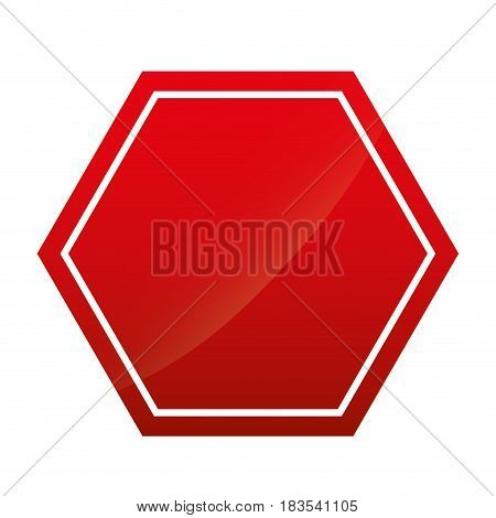 blank caution sign icon over white background. vector illustration