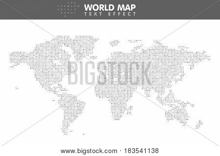 The Minimalistic Worldwide Map
