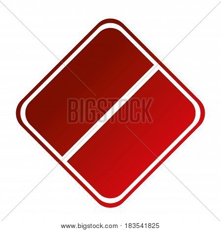 blank forbidden sign icon over white background. colorful design. vector illustration