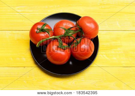 Healthy Lifestyle, Vegetarianism , Diet And Fitness, Red Tomato Branch