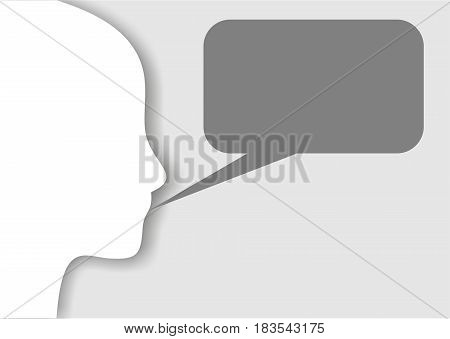 silhouette of a person on a white background