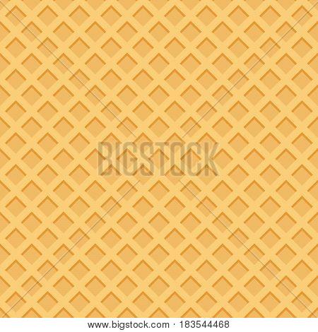 Ice Cream Pattern Wafle Texture Vector Illustration