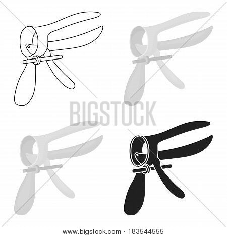 Speculum icon in cartoon style isolated on white background. Pregnancy symbol vector illustration.