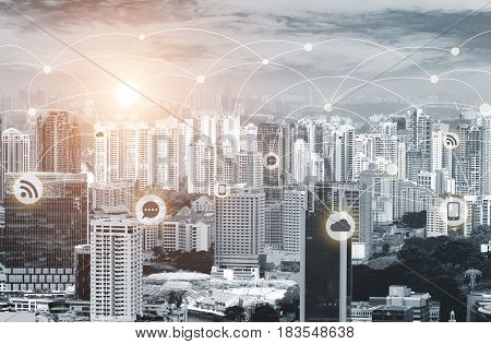 Business Network Connection Concept