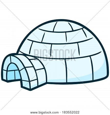 A vector illustration of a Igloo house.