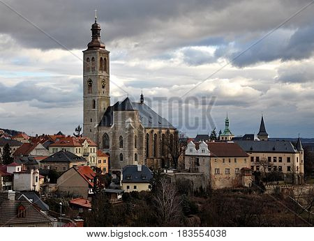 Old church and the city of Kutna Hora, Czech Republic, Europe