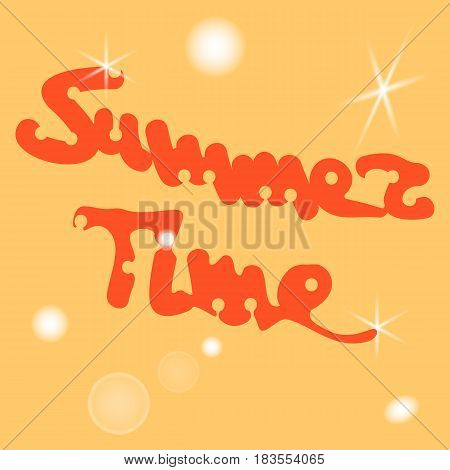 Conceptual hand drawn phrase Summer time. Lettering design for posters, t-shirts, cards, invitations, stickers, banners, advertisement. Vector illustration