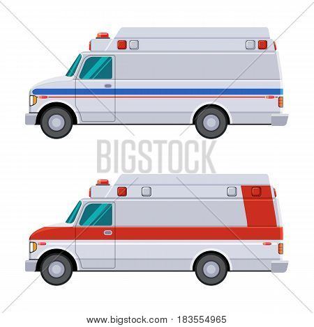 Side View Ambulance Vehicle