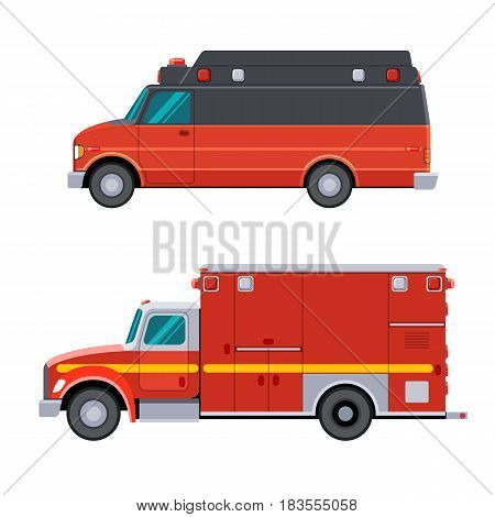 Side View Emergency Vehicle