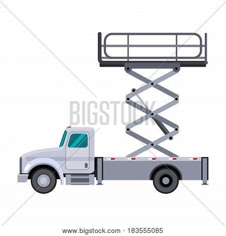 Utility Scissor Lift Truck Crane