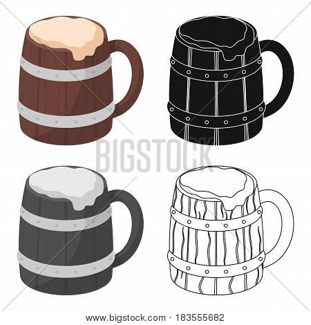 Viking ale icon in cartoon design isolated on white background. Vikings symbol stock vector illustration.