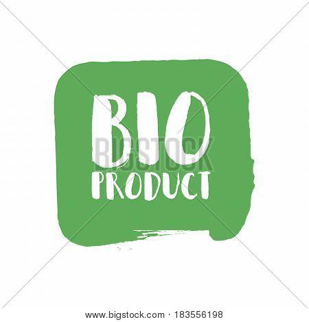 Grunge Bio Natural Rubber Stamp, Vector Illustration