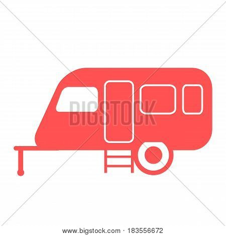 Stylized Icon Of A Colored Caravan