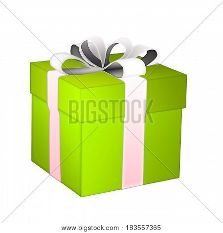 gift box. gift box with ribbons on white background