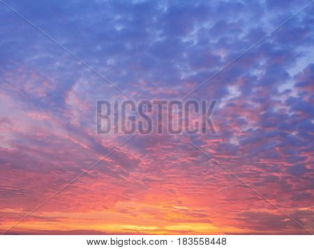 colurful Twilight  sky for a background image.