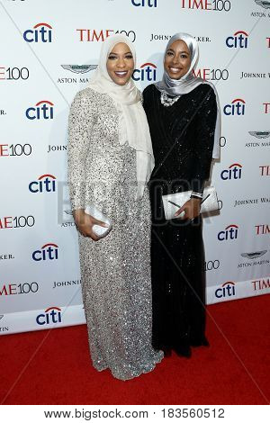 Ibtihaj Muhammad (L) and Aya Elsekhely attend the Time 100 Gala at Frederick P. Rose Hall on April 25, 2017 in New York City.