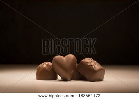 Sweet candy chocolates delicious luxury dessert bonbon
