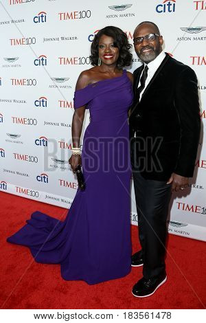 Actress Viola Davis (L) and Julius Tennon attend the Time 100 Gala at Frederick P. Rose Hall on April 25, 2017 in New York City.