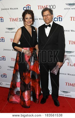 Astronomer Natalie Batalha (L) and Celso Batalha attend the Time 100 Gala at Frederick P. Rose Hall on April 25, 2017 in New York City.
