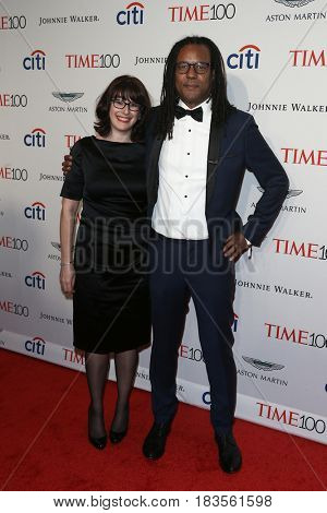 Colson Whitehead (R) and Julie Barer attend the Time 100 Gala at Frederick P. Rose Hall on April 25, 2017 in New York City.