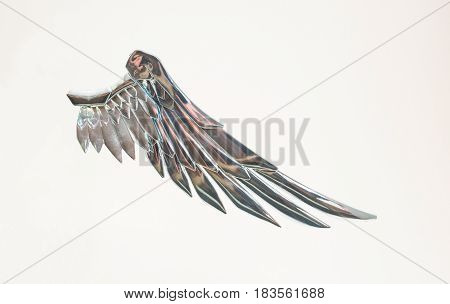 Chromium angel wing.Creative part of fairy.God of the sky
