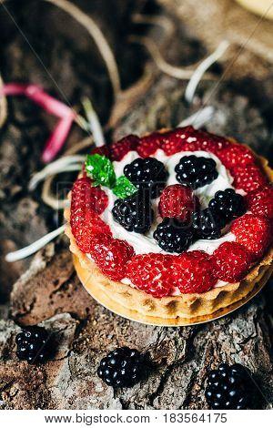 Homemade Tart With Berries