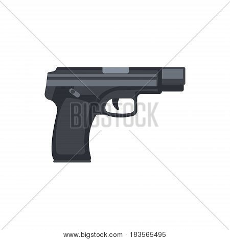 Automatic handgun pistol. Military weapon vector Illustration isolated on a white background