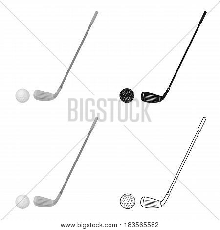 Golf icon in cartoon design isolated on white background. Scotland country symbol stock vector illustration.