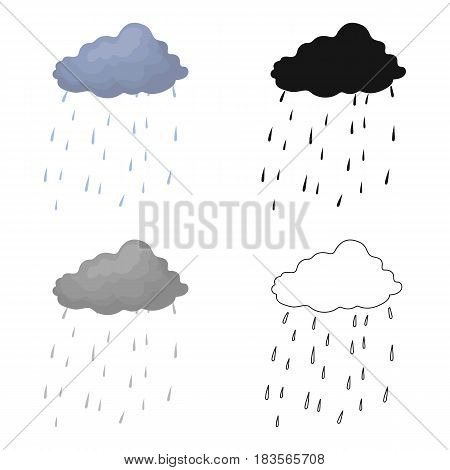 Scottish rainy weather icon in cartoon design isolated on white background. Scotland country symbol stock vector illustration.