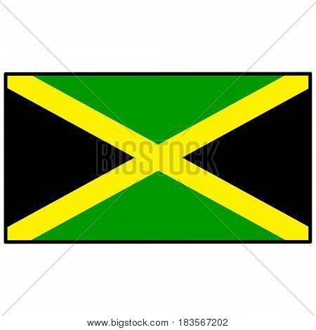 A vector illustration of a Jamaica Flag.