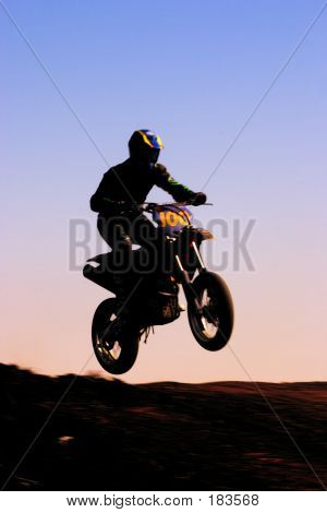 Motorcycle Silhouette Front