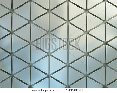 3d illustration of beautiful geometric three dimensional metal chrome chromium abstract in studio