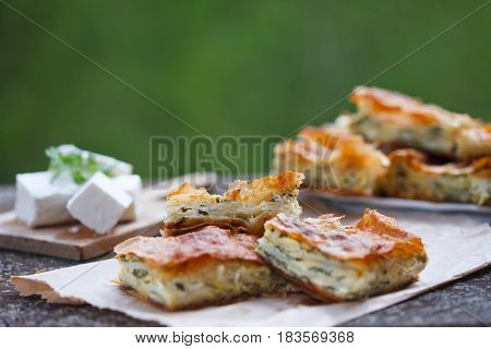 Feta Cheese & Spinach Pie, Srpska zeljanica, traditional food