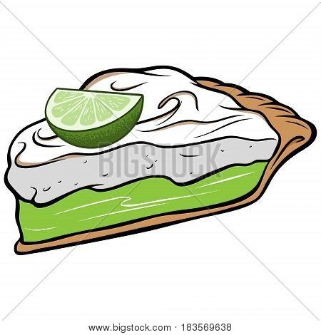 A vector illustration of a Key Lime Pie.