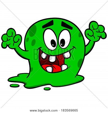 A vector illustration of a Killer Germ.