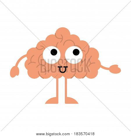 storm brain character icon vector illustration design