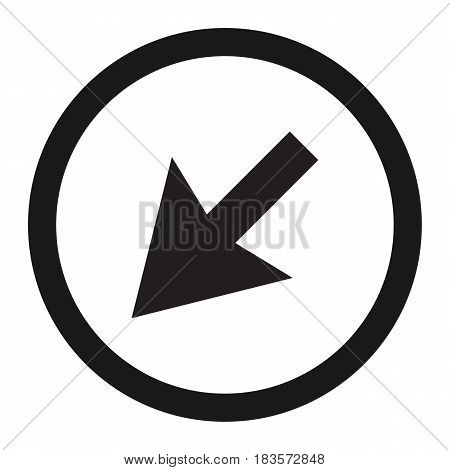 detour to the left sign line icon, Traffic and road sign, vector graphics, a solid pattern on a white background, eps 10
