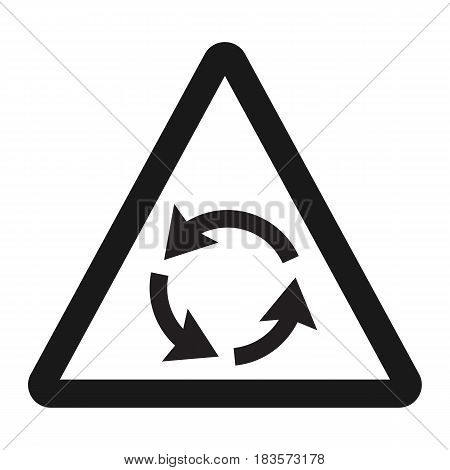Roundabout sign line icon, Traffic and road sign, vector graphics, a solid pattern on a white background, eps 10