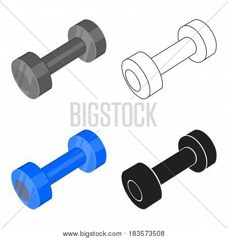 Dumbbells icon cartoon. Single sport icon from the big fitness, healthy, workout cartoon.