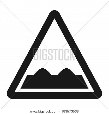 Rough road sign line icon, Traffic and road sign, vector graphics, a solid pattern on a white background, eps 10