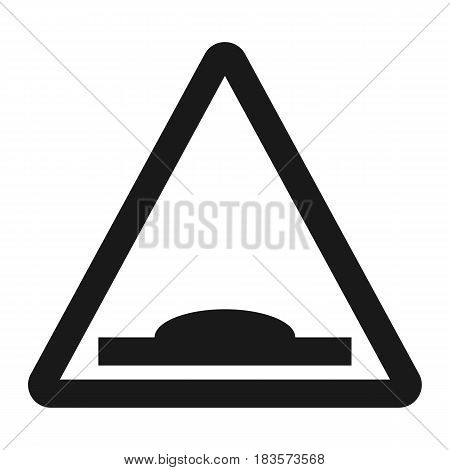 Hump Sign line icon, Traffic and road sign, vector graphics, a solid pattern on a white background, eps 10