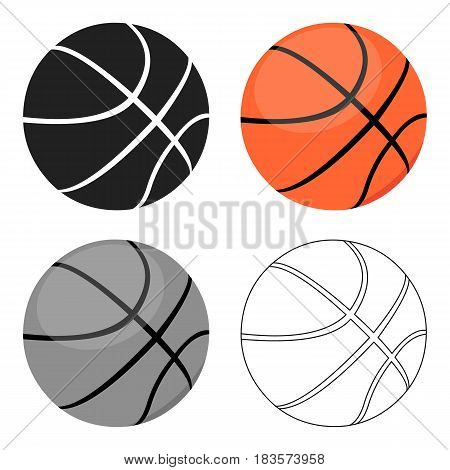 Basketball icon cartoon. Single sport icon from the big fitness, healthy, workout cartoon.