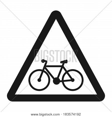 Bicycle and bike lane sign line icon, Traffic and road sign, vector graphics, a solid pattern on a white background, eps 10